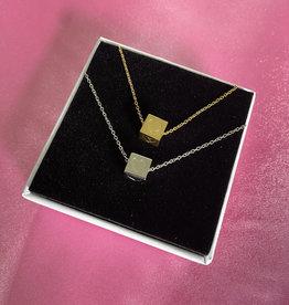 Block Heart Necklace