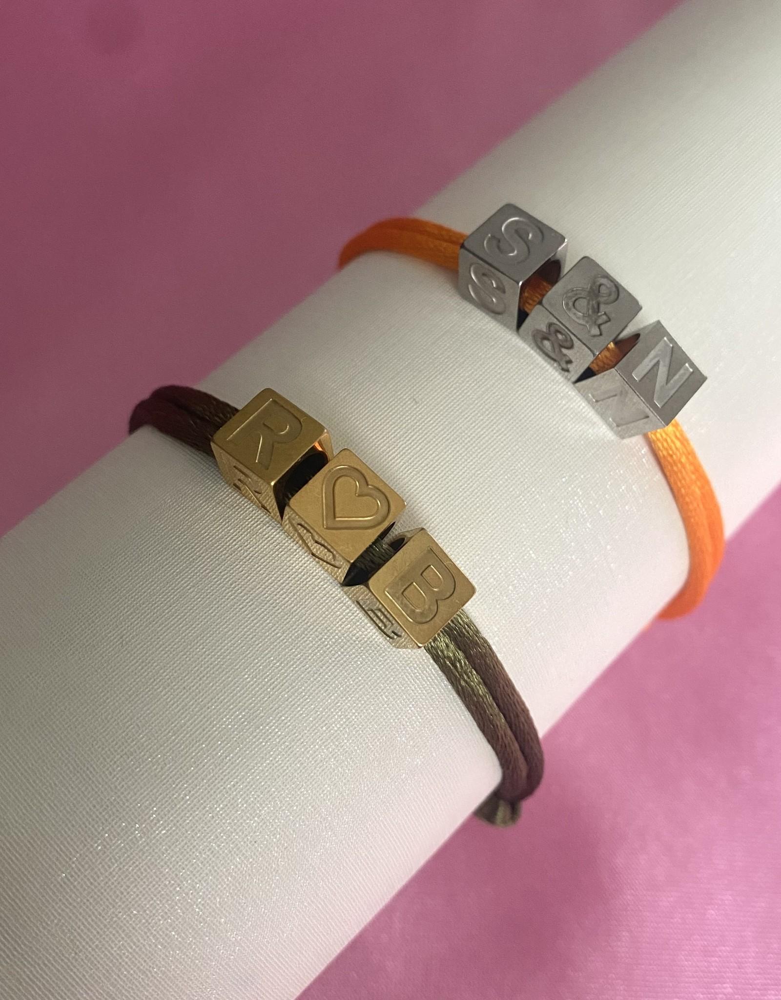 3 Block Letters Bracelet