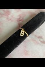 Diamond Letter Ring