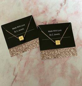 Block Star & Clover Necklace