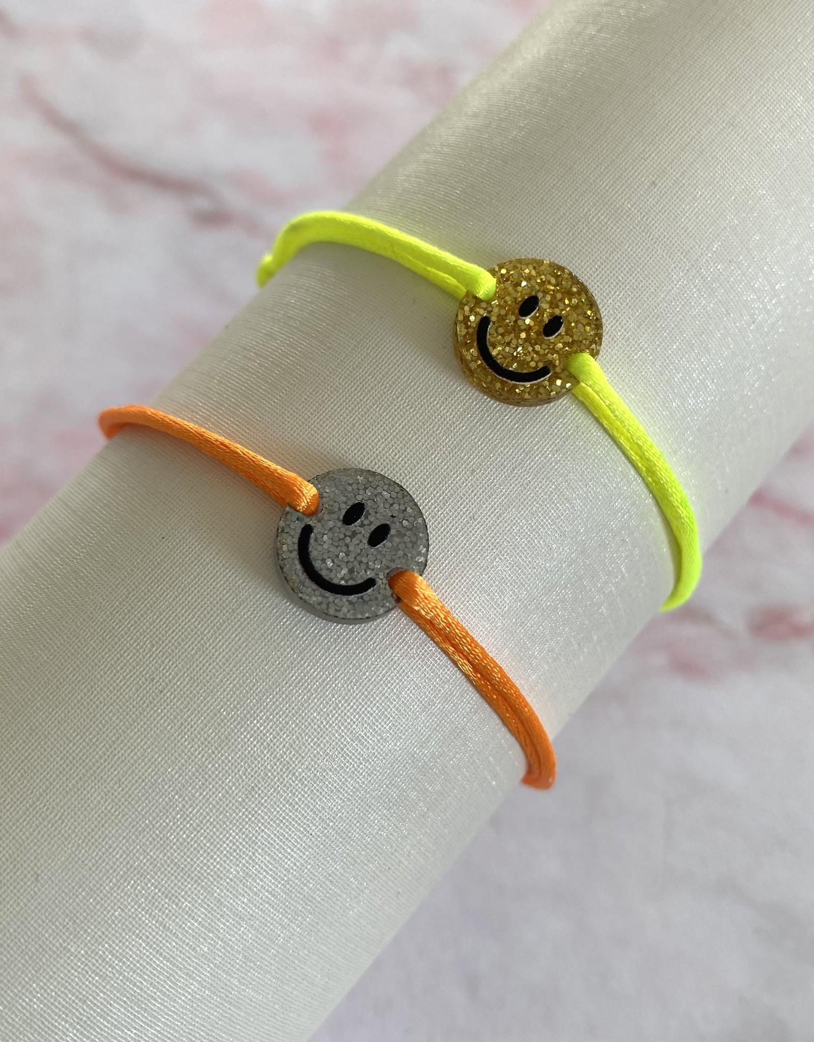 Glitter Smiley Bracelet