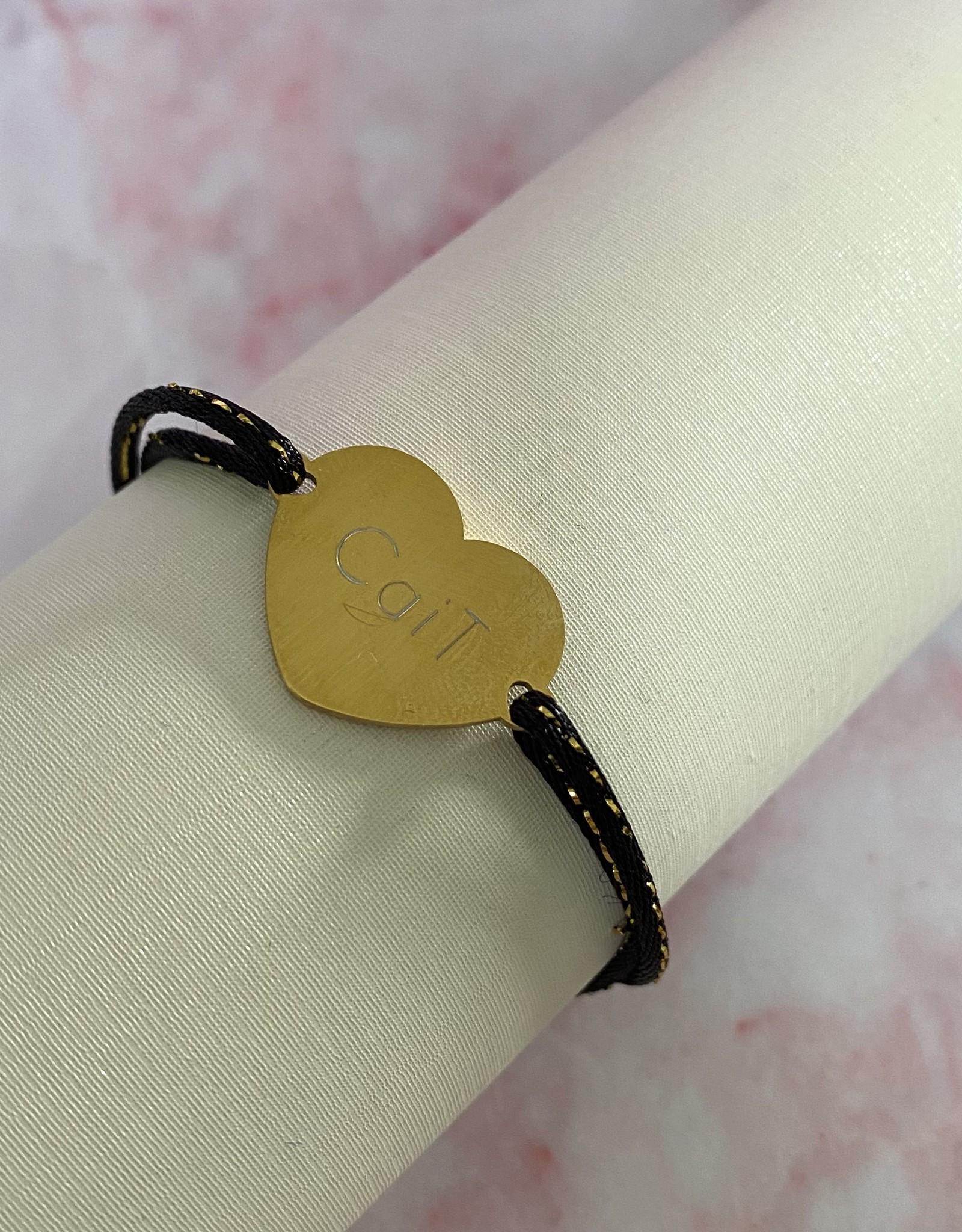 Gegraveerde Hartjes Armband Groot