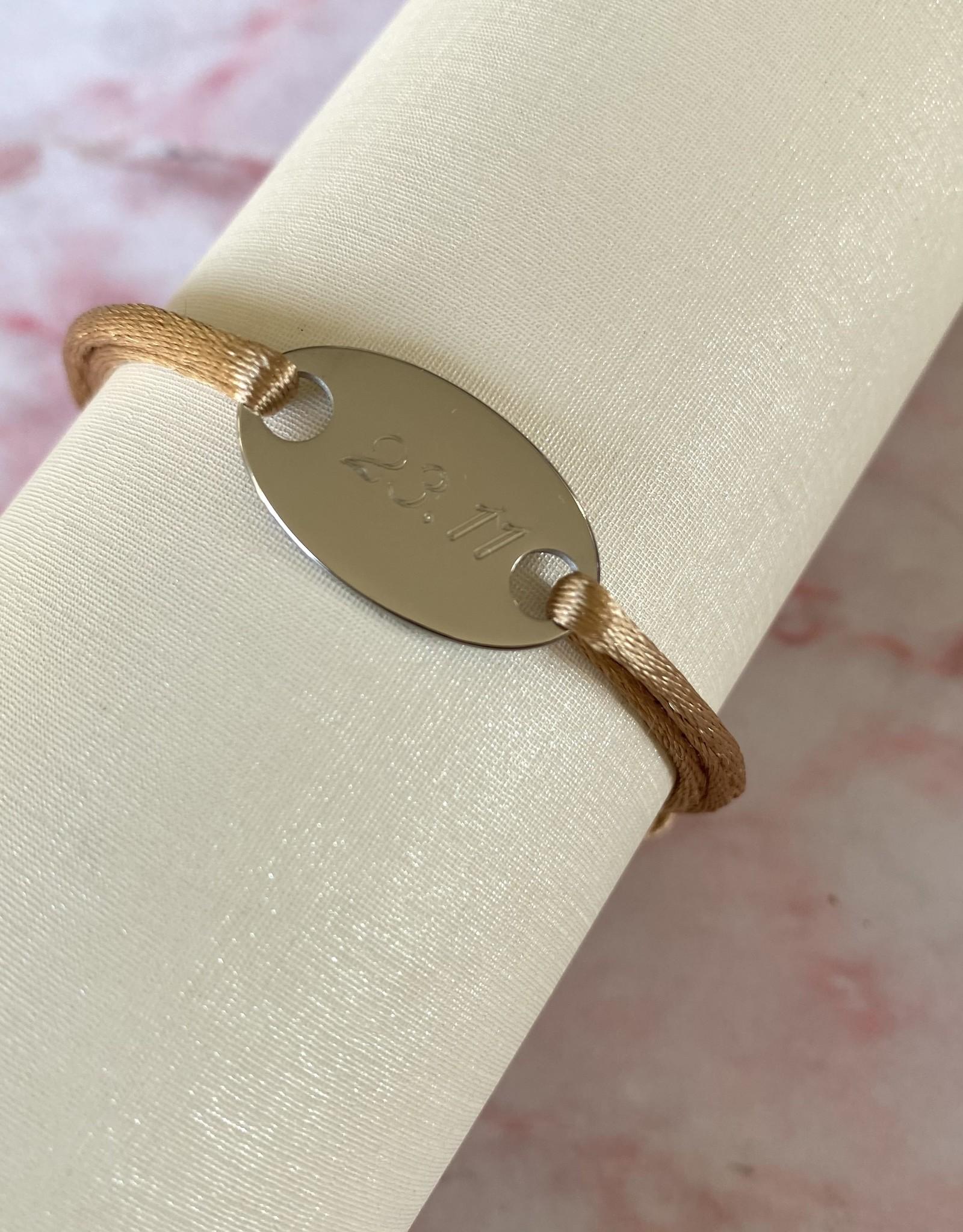 Ovaal Gegraveerd Armbandje