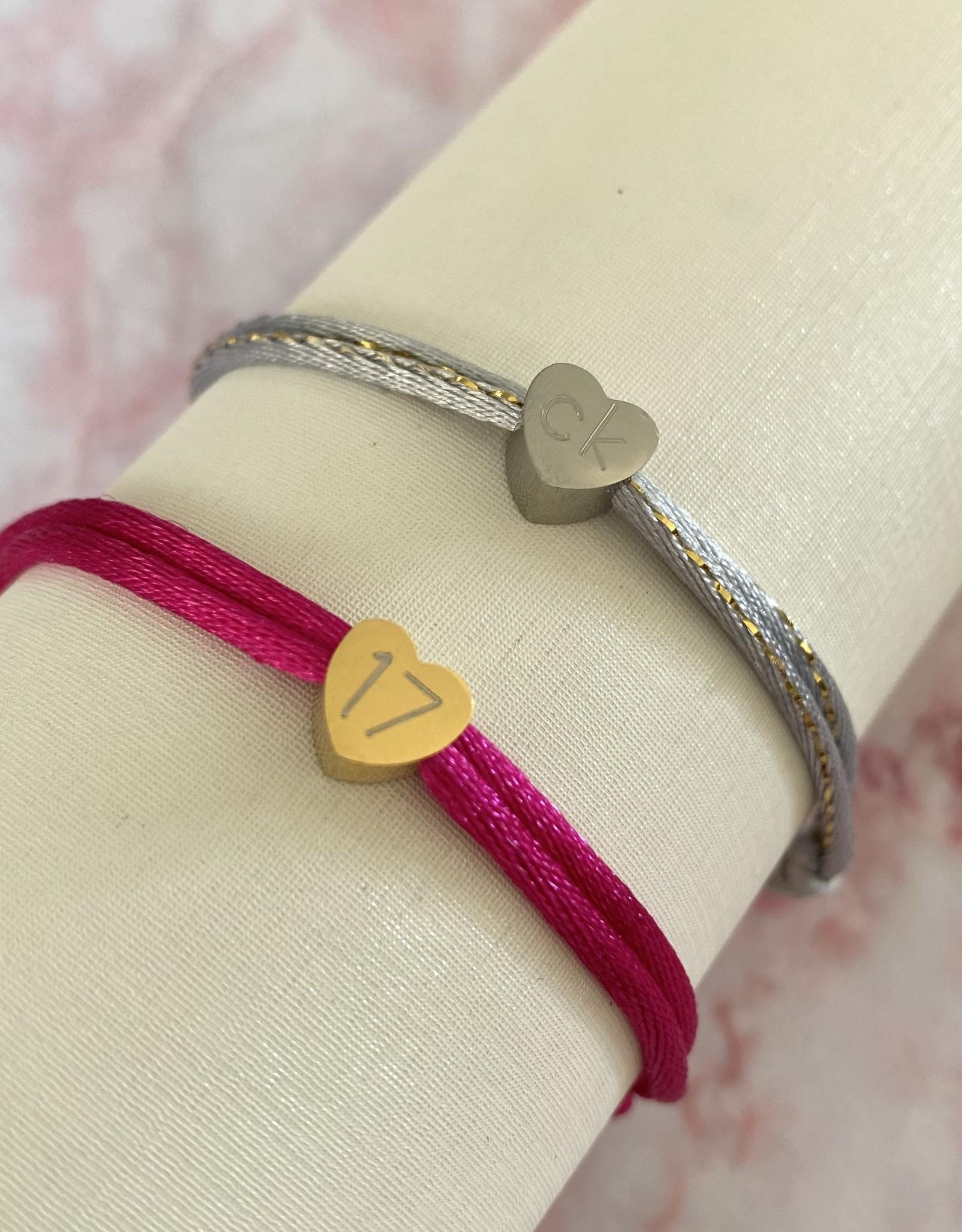 Gegraveerde hartjes Armband