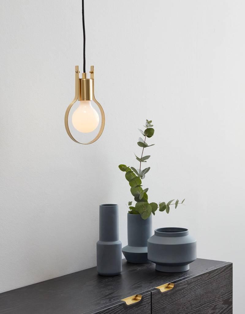 HÜBSCH TABLE LAMP METAL BRASS