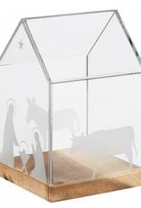 Rader Maison en verre Crèche H 16,5cm