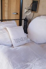 Bed & Philosophy Taie d'oreiller ronde Mercer blanc