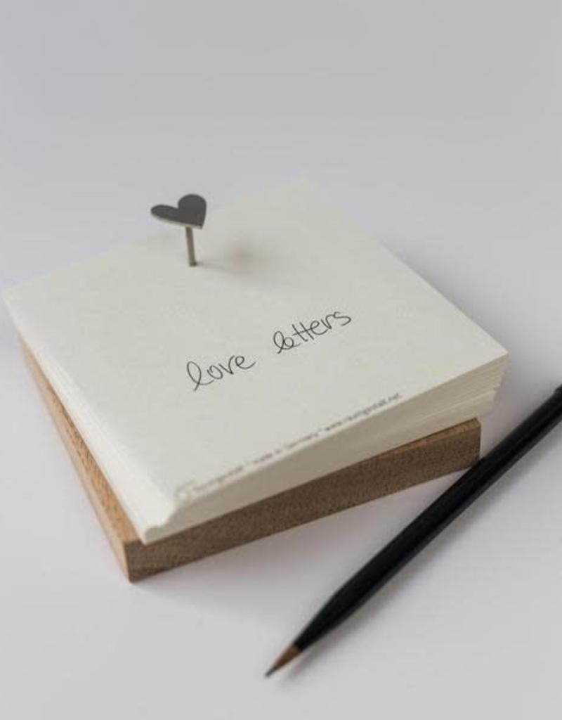 Raumgestalt Bloc notes carré Love letters - Raumgestalt