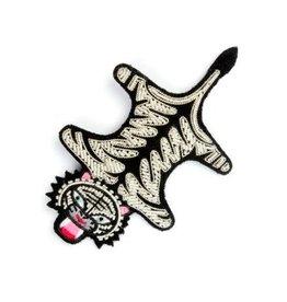 Macon&Lesquoy Grande broche - Peau de Tigre -