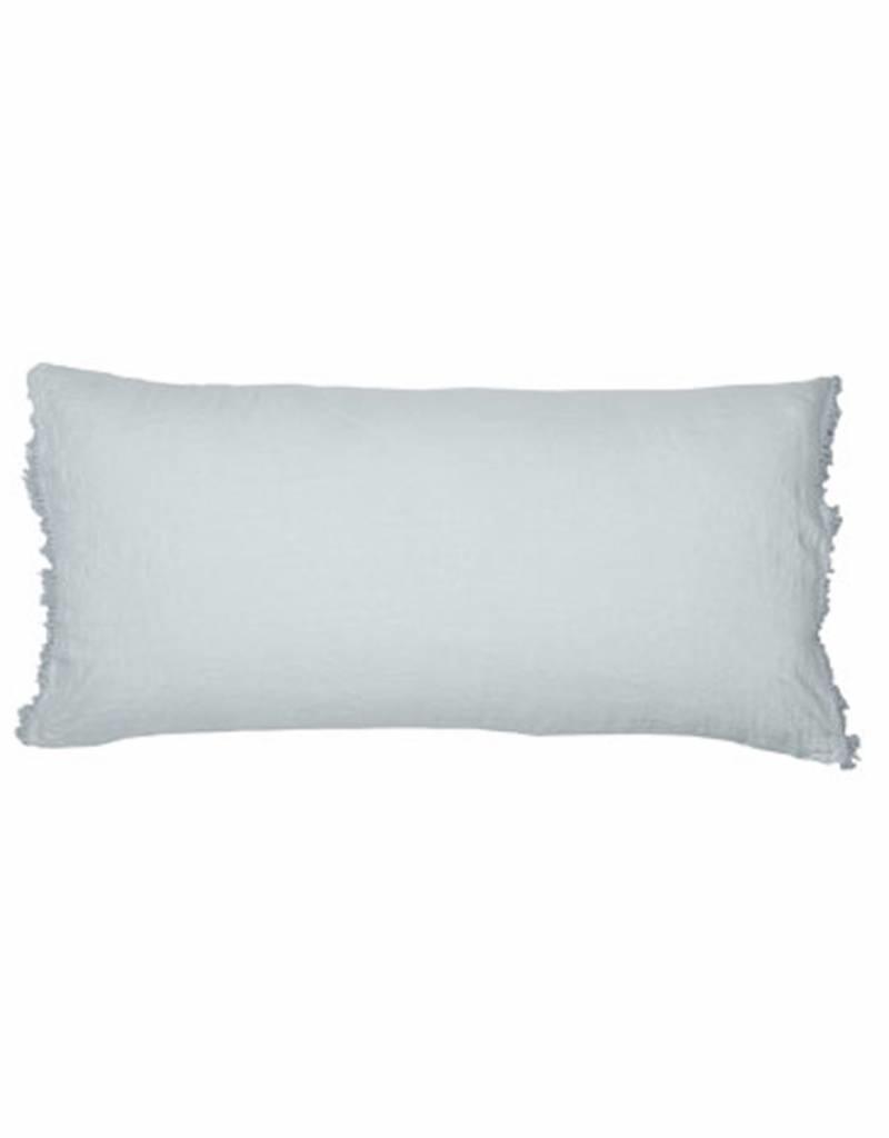 Bed & Philosophy Chic Aqua frangé 50x70cm - Bed and Philosophy