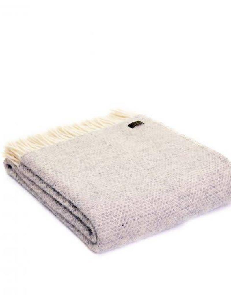Tweedmill Textiles Plaid Gris Beehive 150x183 cm - Tweedmill