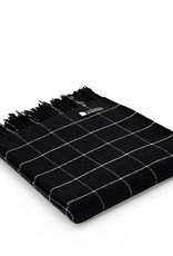 Tweedmill Textiles Plaid noir Check 130x180 cm en Merino
