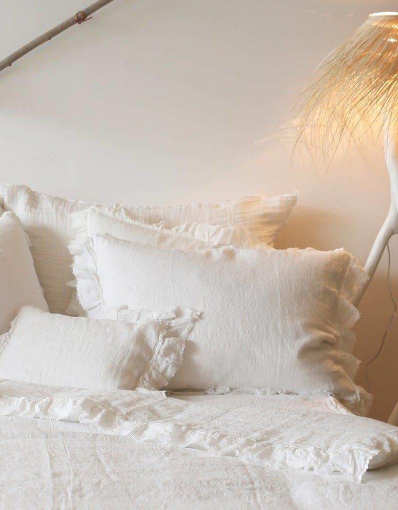Maison de Vacances Coussin Boho Blanc - Maison de Vacances