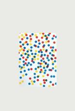 5 cartes A6 coins arrondis confettis - Le Typographe5 cartes coins arrondis A6 confettis bleu jaune rouge