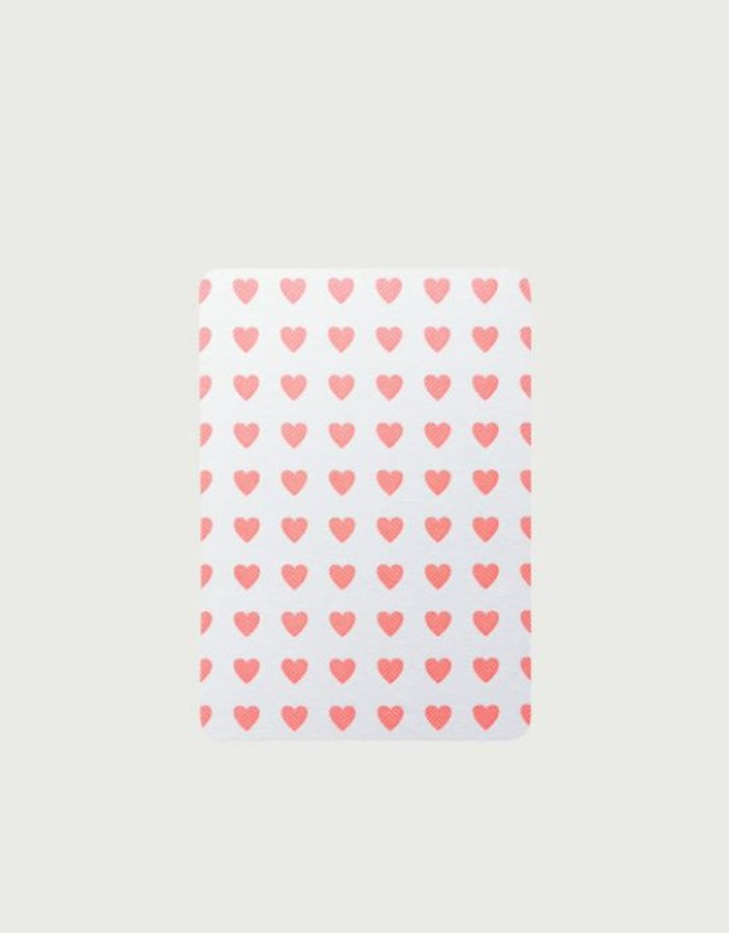 5 cartes A6 coins arrondis cœur - Le Typographe