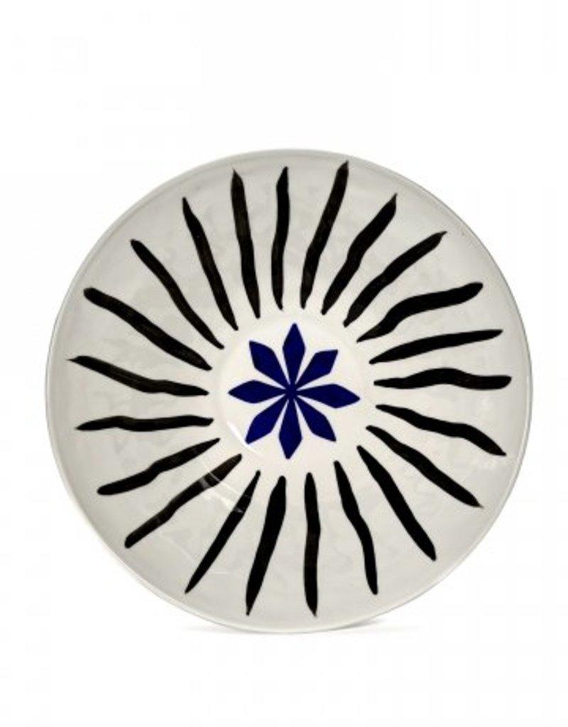 Serax Bol Isa Fleur Bleu/Noir D20 H.8,8 - Serax