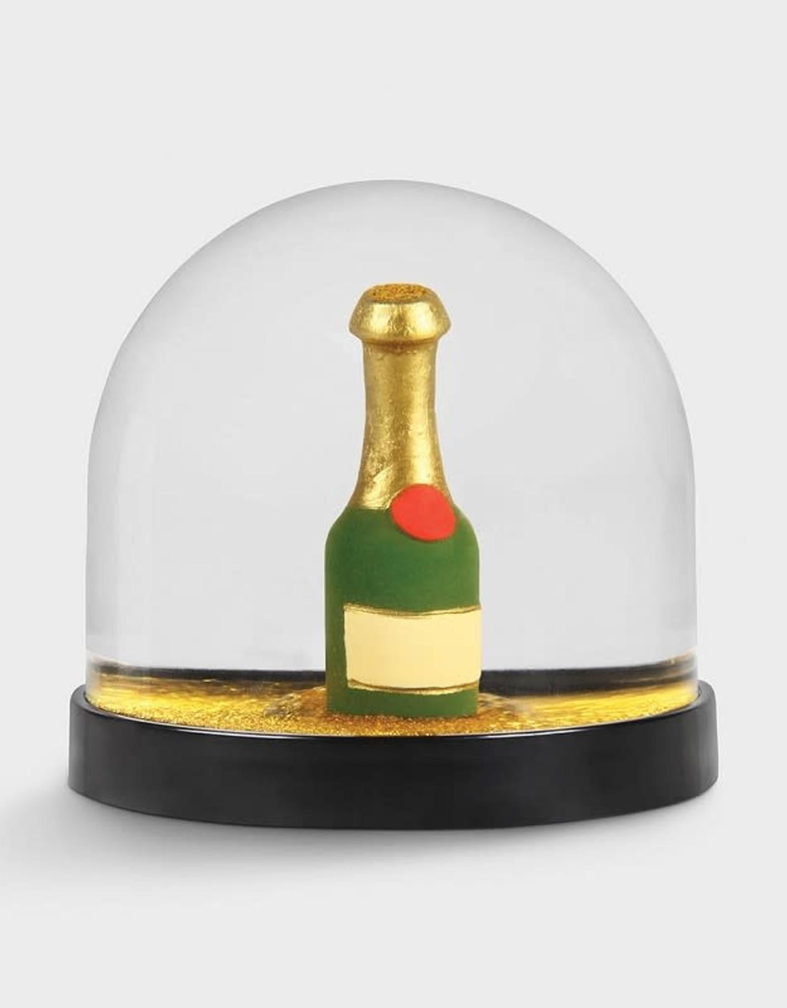 & klevering Boule à neige Wonderball Champagne Bottle