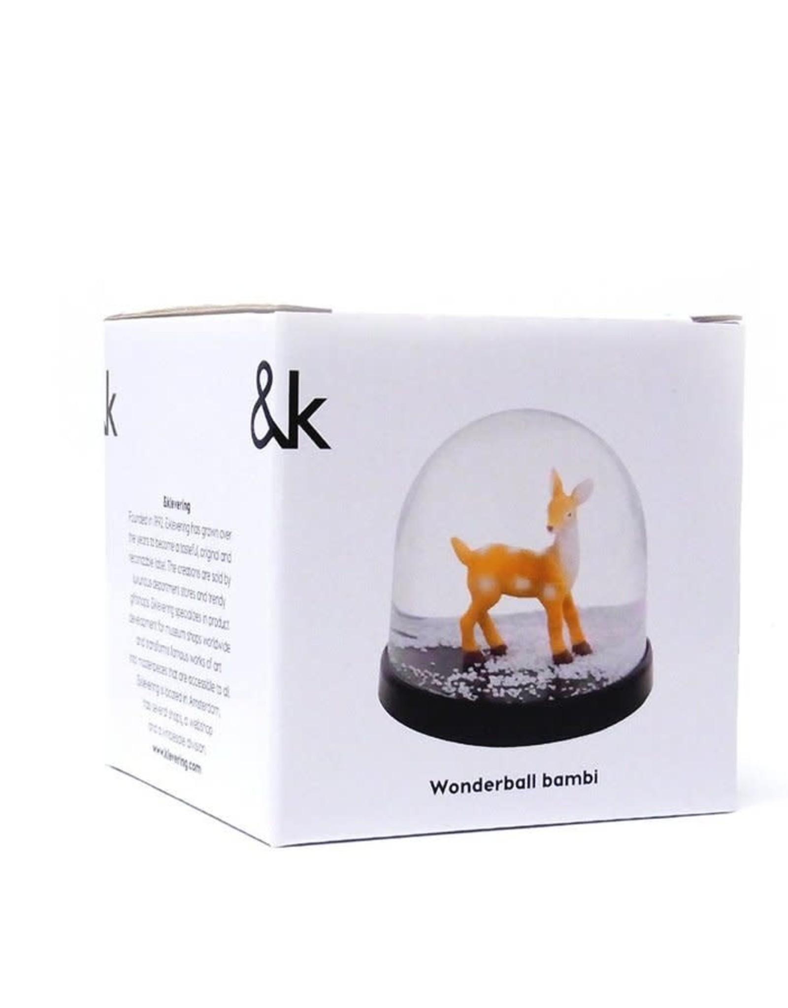 & klevering Boule à neige Wonderball Bambi