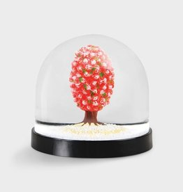 & klevering Boule à neige Wonderball Tree Pink