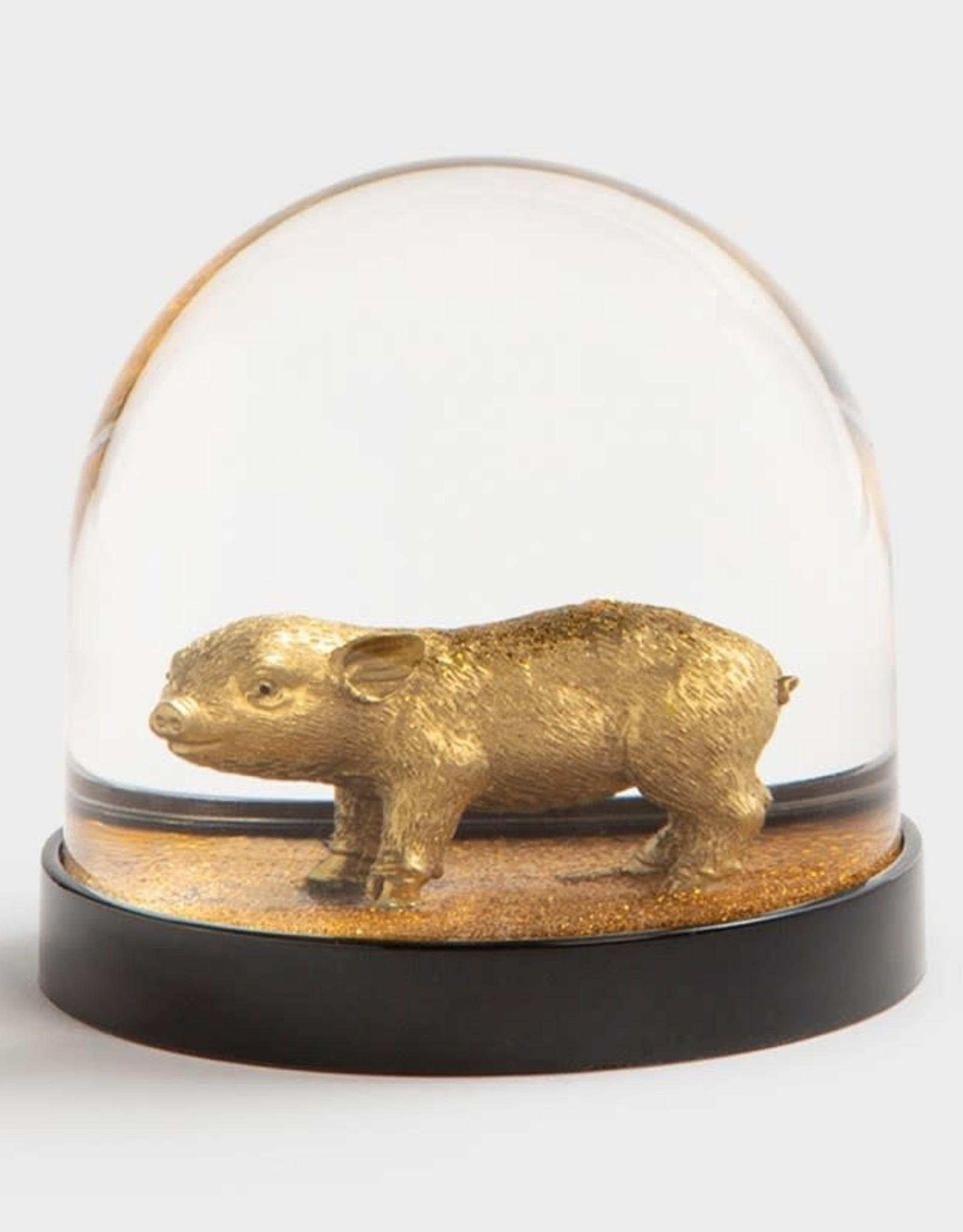 & klevering Boule à neige Wonderball Pig Gold