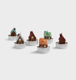 & klevering Bougies Gingerbread House set 6