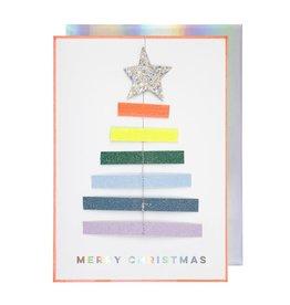 Meri Meri Carte  Sapin Multicolore
