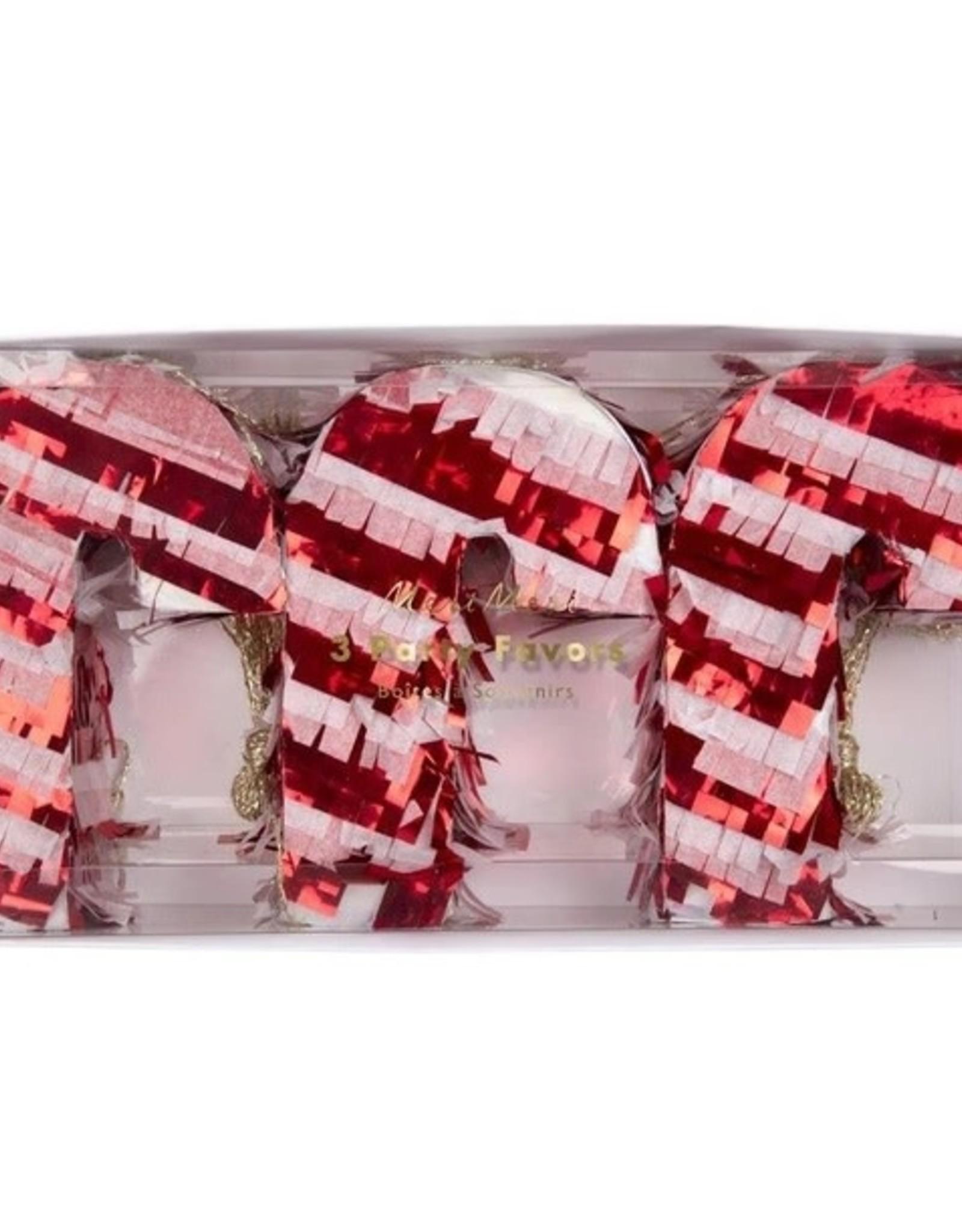 Meri Meri Mini Pinatas Candy Cane set de 3