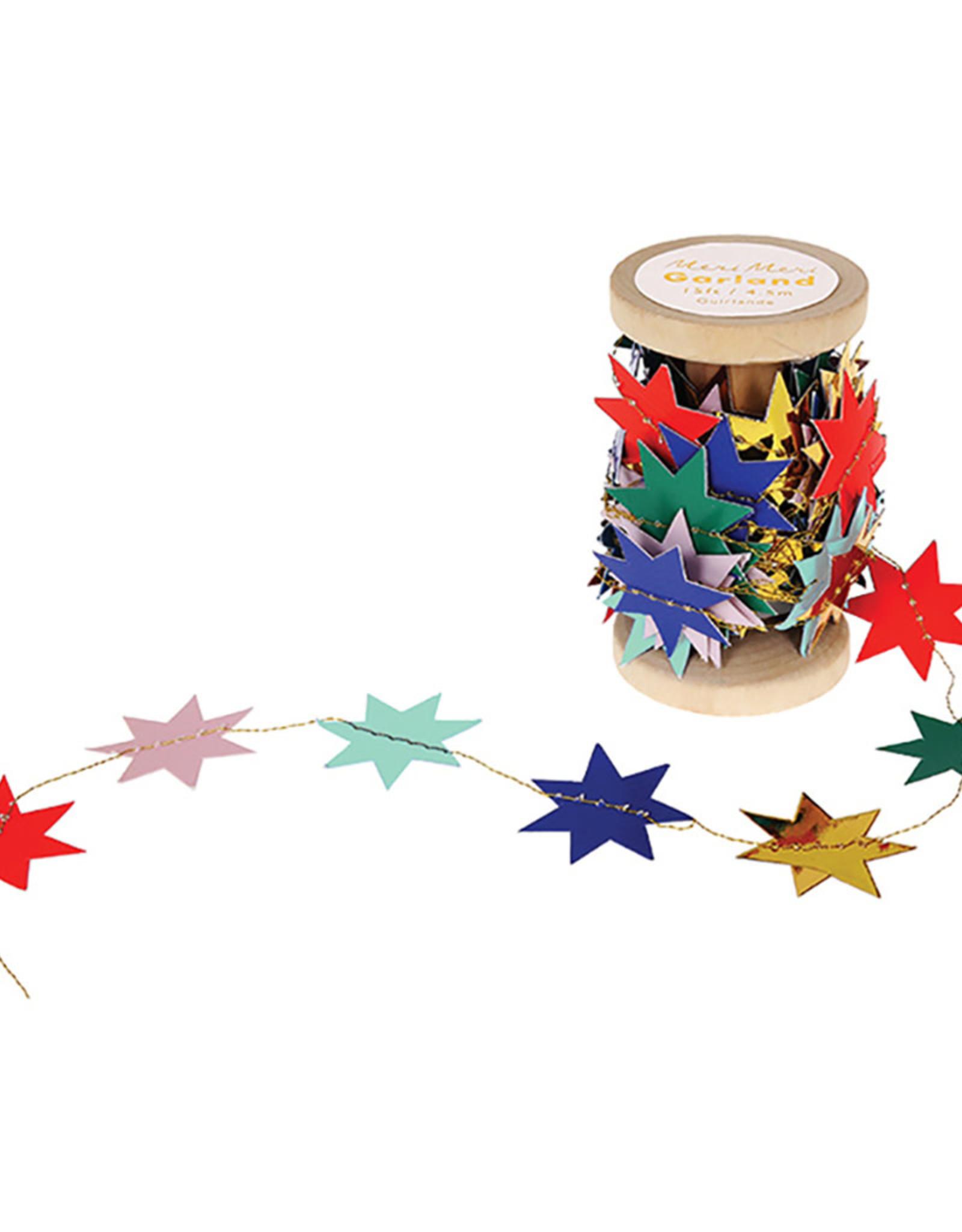 Meri Meri Guirlande d'étoiles colorées
