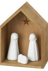 Rader Crèche en bois et figurines en porcelaine