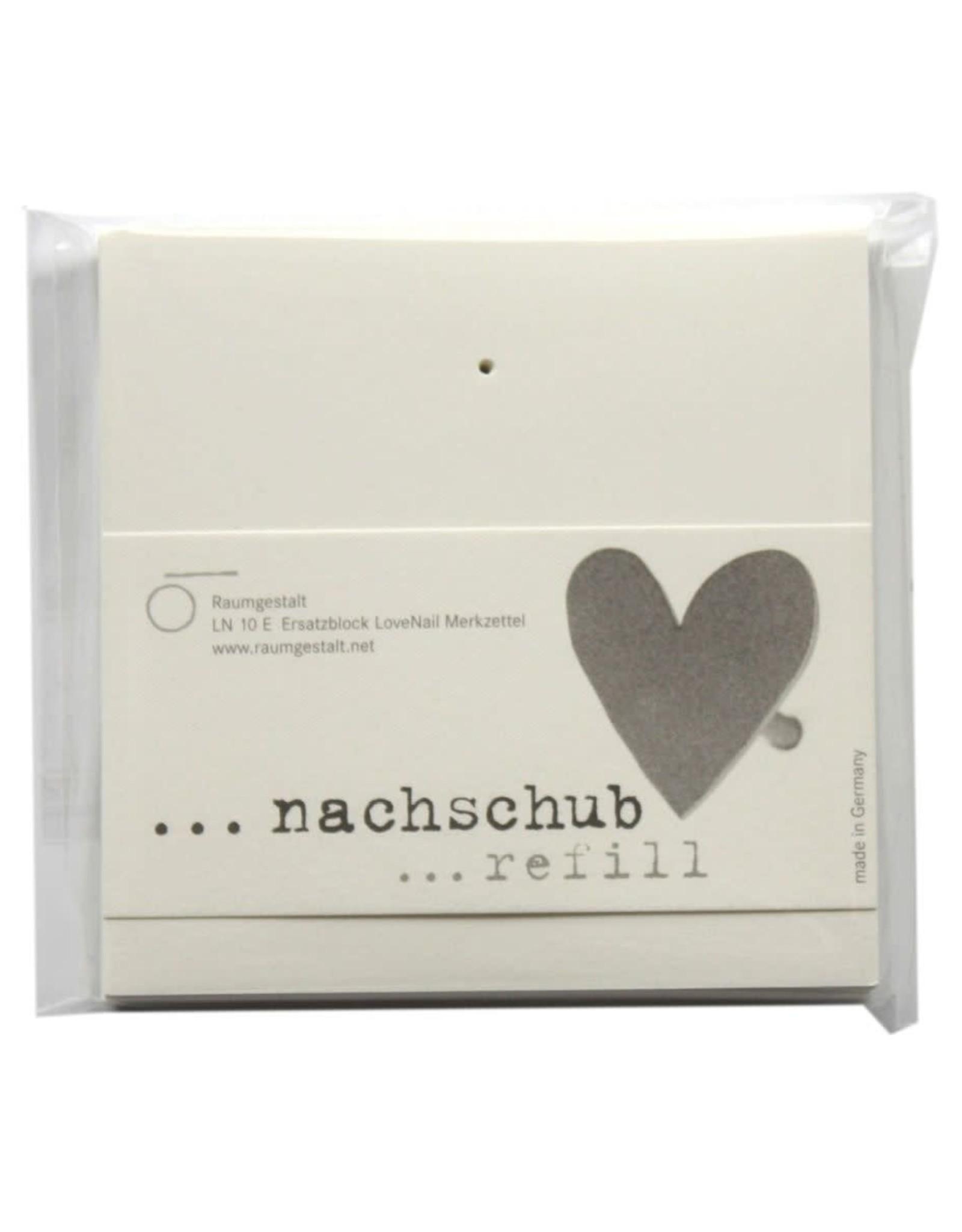 Raumgestalt Recharge pour bloc-notes LoveLetter 10x10 cm