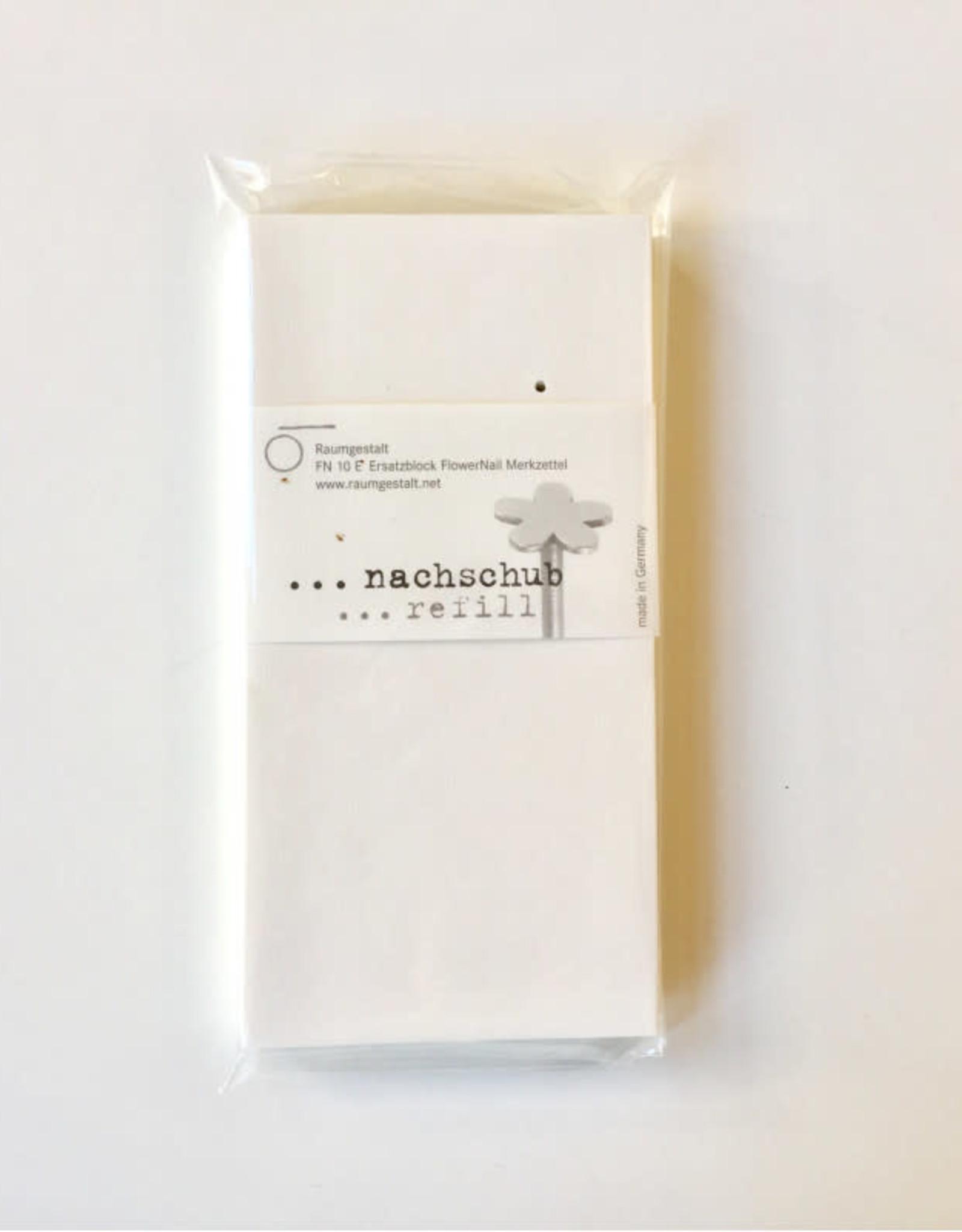 Raumgestalt Recharge pour bloc-notes FlowerNail 14 x 7