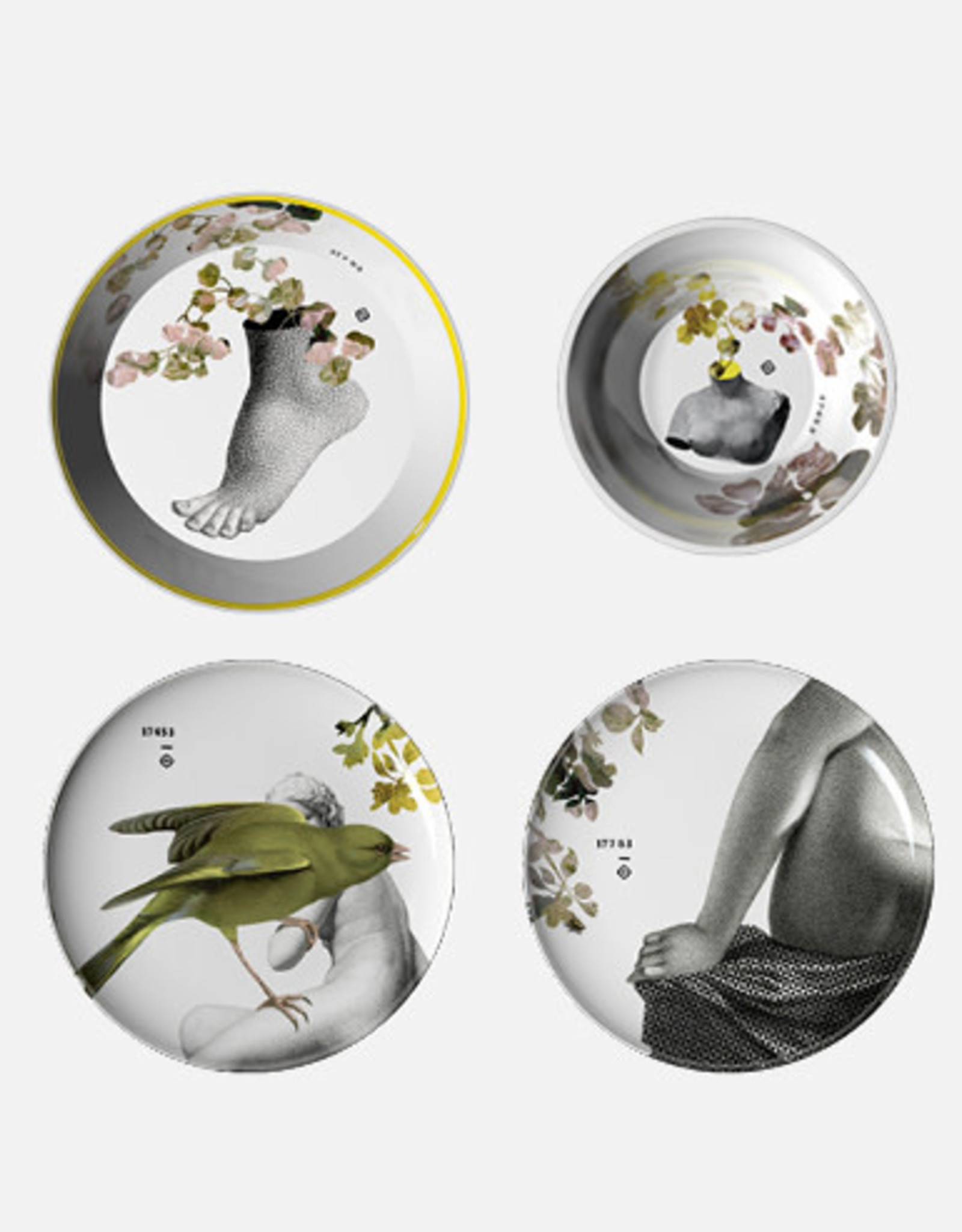 ibride Service de table Yuan Parnasse Gris/ 8 pièces empilables