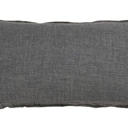 Bed & Philosophy Grand coussin rectangle 55x110cm EGO – Graphite