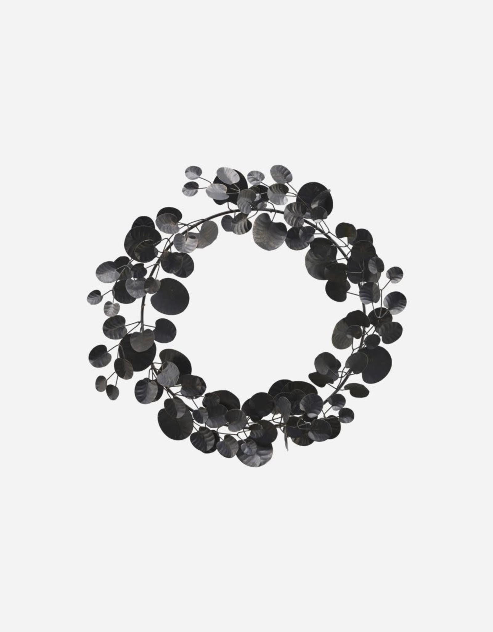 House Doctor Couronne d'Eucalyptus en métal noir