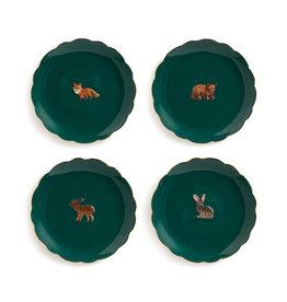 & klevering Assiettes Forrest Animal (set de 4)