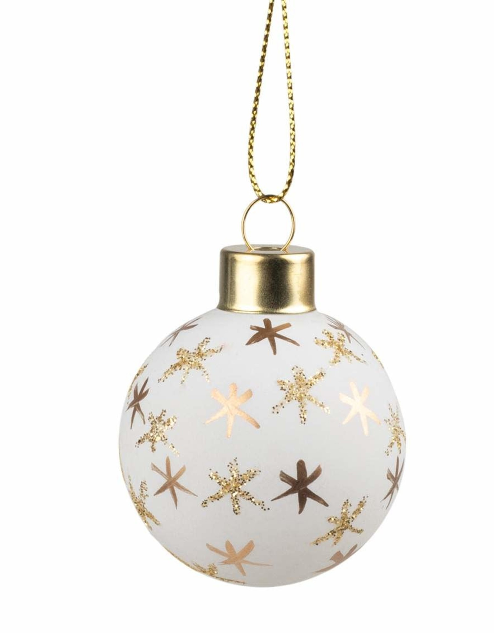 Rader Christmas Baubles or et blanc
