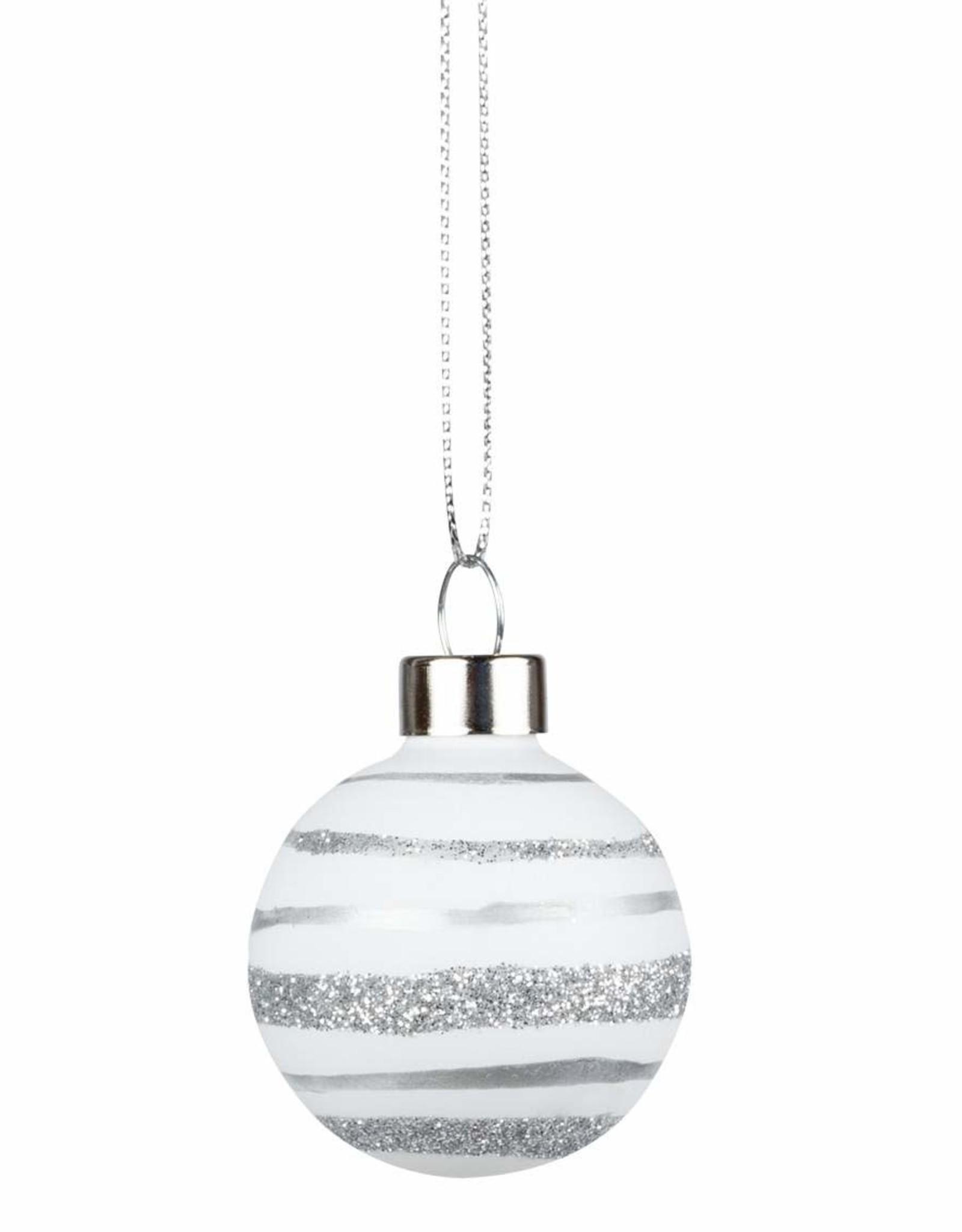 Rader Christmas Baubles argent et blanc