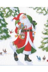 Petites serviettes papier Woodland Santa