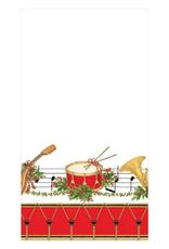 Serviettes rectangle papier Christmas Concert