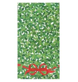 Serviettes rectangle papier Ivory Boxwood