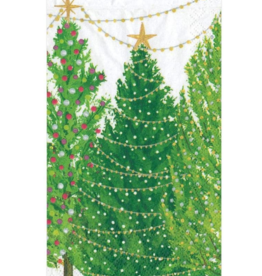 Serviettes rectangle papier Christmas Tree with Lights