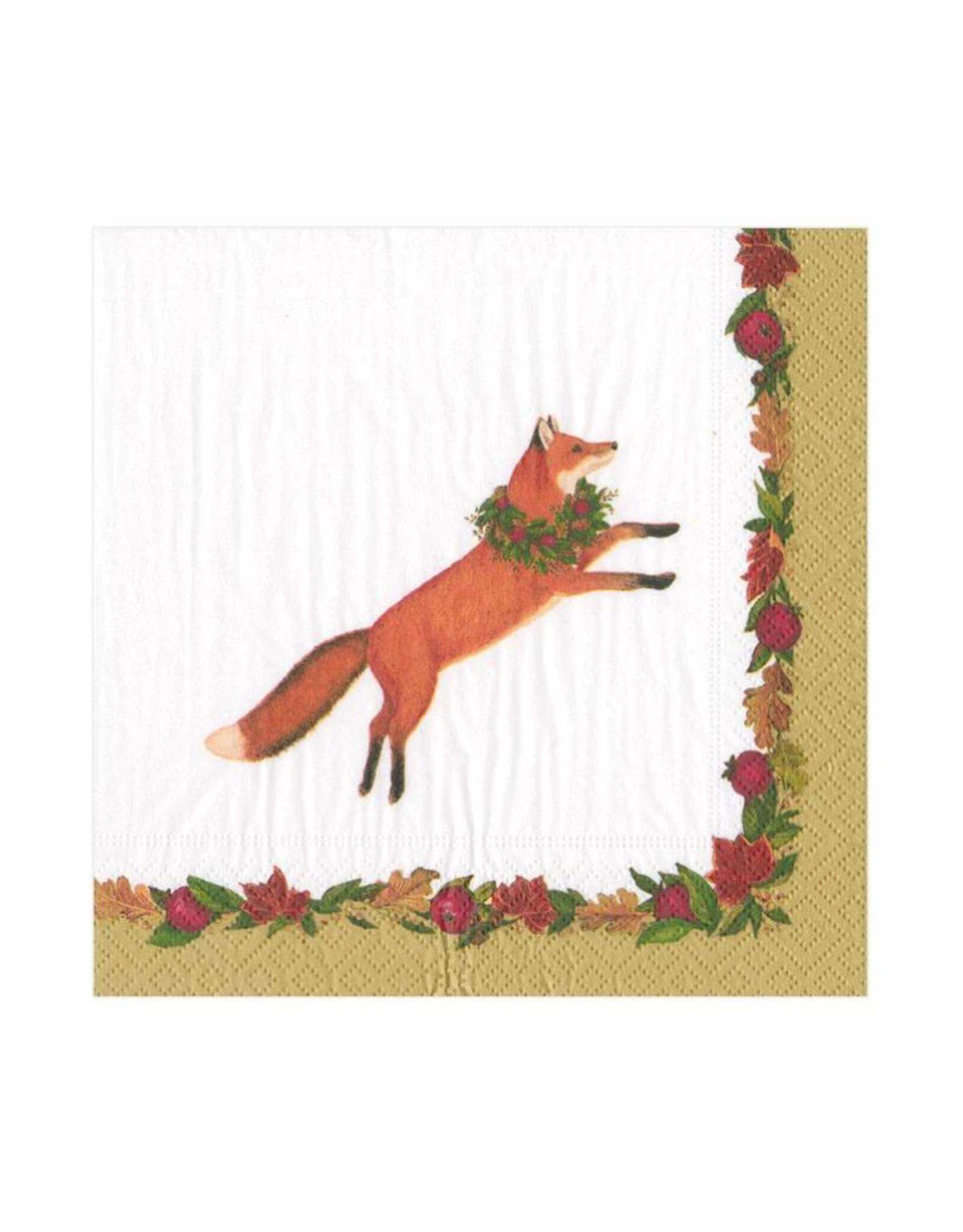 Petites serviettes papier Leaping Fox