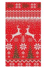 Serviettes rectangle papier Winter Fairisle