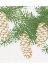 Petites serviettes papier Pinecones Ivory