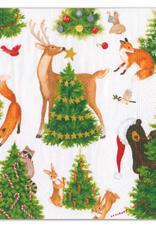 Petites serviettes papier Forest Christmas