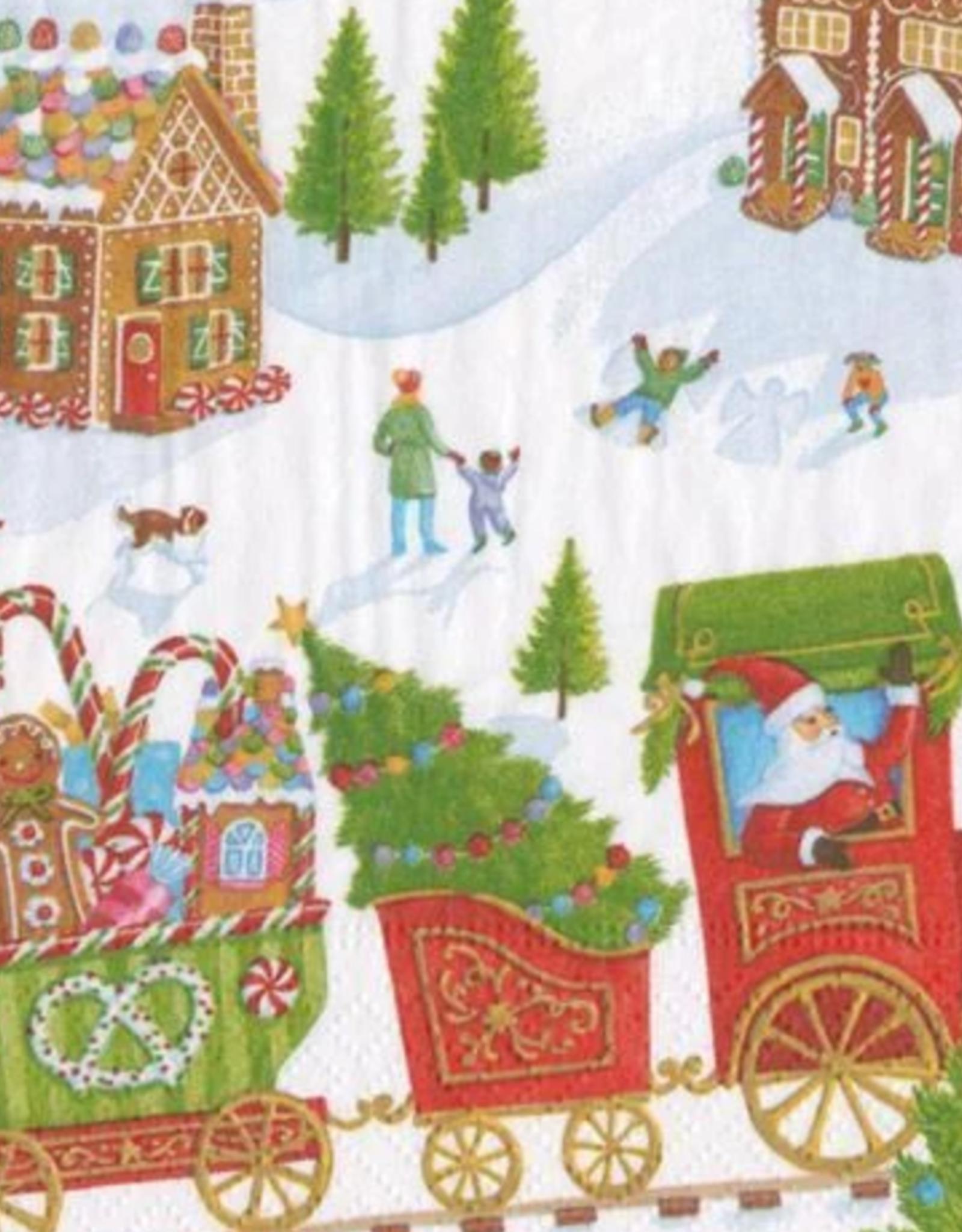 Petites serviettes papier Gingerbread Village