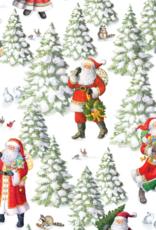 Rouleau de papier cadeau Woodland Santa