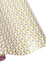 Rouleau de papier cadeau reversible Domino Paper Holly