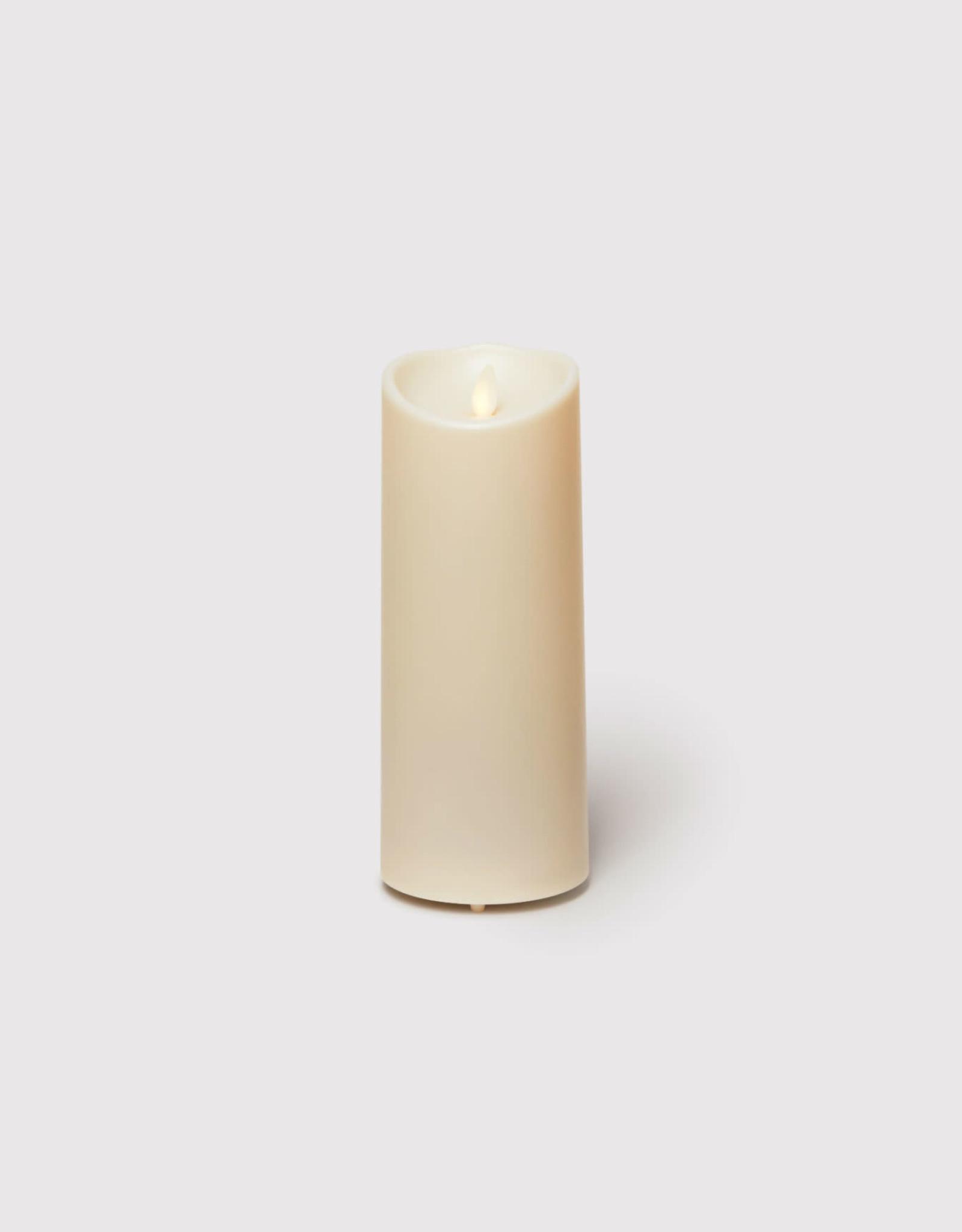 Bougie LED flamme oscillante en cire Ivoire  9X23
