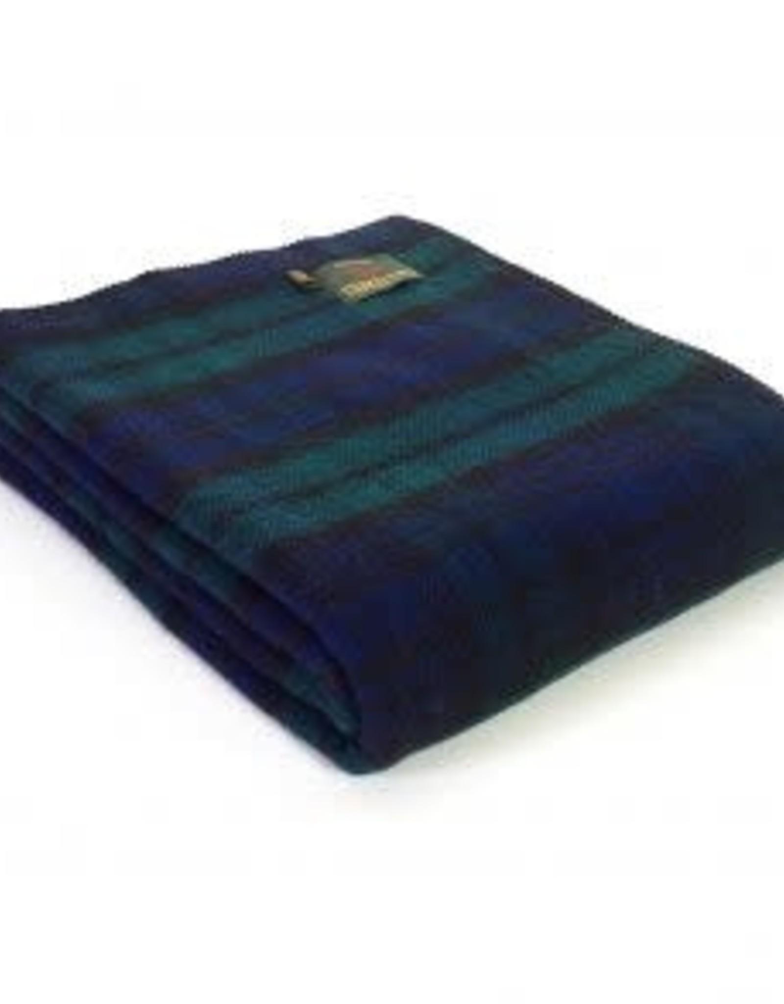 "Tweedmill Textiles Plaid tartan en pure laine  ""Blackwatch"" 140 x 190 cm"
